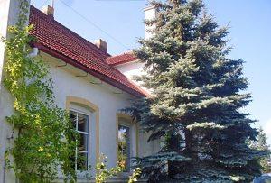 na zdjęciu widok z zewnątrz na dom w okolicy Gorzowa Wielkopolskiego do sprzedaży